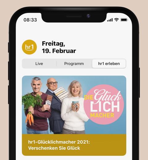 """Der Bereich """"hr1 erleben"""" in der neuen App"""