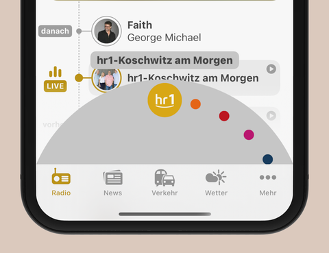 Der Wellen-Wechsel in der hr1-App