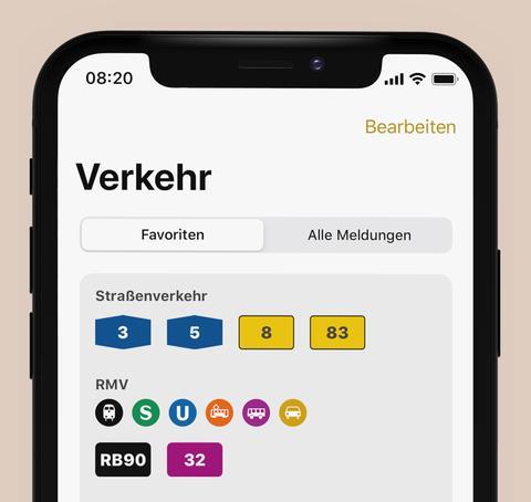 Der Verkehr in der hr1-App