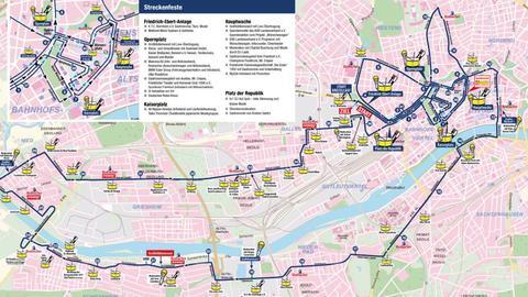 Frankfurt Marathon Streckenpartys