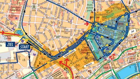 Streckensperrungen zum Frankfurt-Marathon