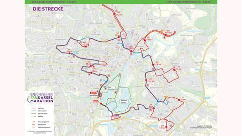 Karte zum Kassel-Marathon 2018