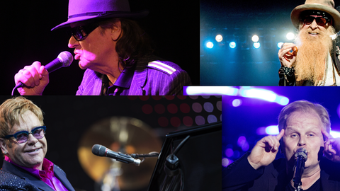 Udo Lindenberg, ZZ Top. Elton John, Herbert Grönemeyer