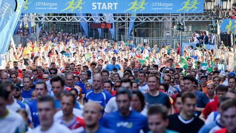 Läufer beim J.P. Morgan-Lauf