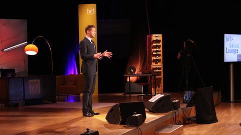 Florian Schroeder bei der hr1-Satire-Lounge im hr-Sendesaal