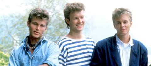 Die norwegische Band a-ha auf einem Bild aus dem 80ern.