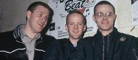 Bronski Beat waren: Steve Bronski, Jimmy Somerville und Larry Steinbachek (v.l.)