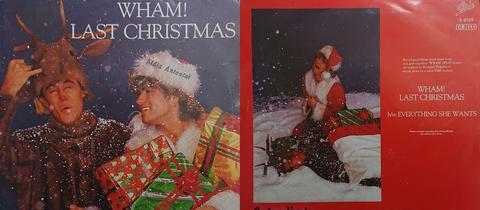 """Das Original-Cover von """"Last Christmas"""" - Vorder- und Rückseite."""