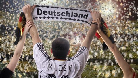 Deutschland Fan jubelt