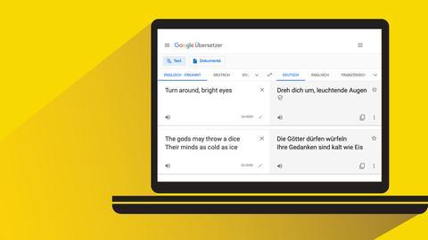 Songdolmetscher: Google Translater mit Übersetzungsbeispielen