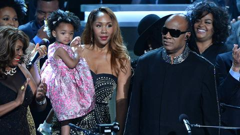Stevie Wonder mit seiner Ehefrau Tomeeka