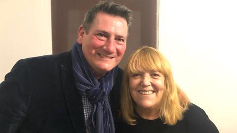 Tony Hadley mit Lidia Antonini