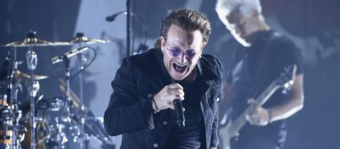 Frontsänger Bono von U2