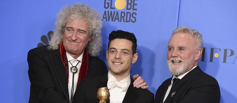 Brian May, Rami Malek und Roger Taylor