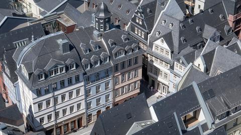 Blick in die renovierte Frankfurter Altstadt