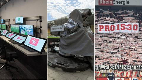 "COllage zeigt Video Assist Center, Kamera und Fans mit Banner ""Pro 15:§0"""