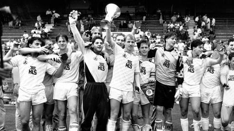Fredi Bobic als Jugendspieler mit der Mannschaft der Stuttgarter Kickers