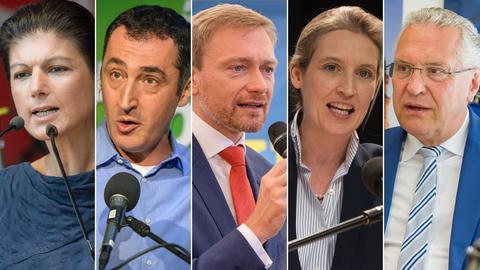 Kandidaten beim TV-Duell der kleinen Parteien