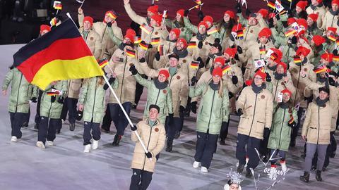 Olympia Einmarsch des deutschen Teams