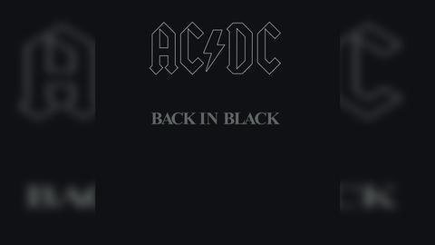 AC/DC Back in Black Cover