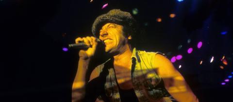 Brian Johnson von AC/DC auf der Bühne
