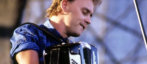 Bruce Hornsby 1987 auf der Bühne