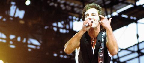 Bruce Springsteen auf der Bühne 1988