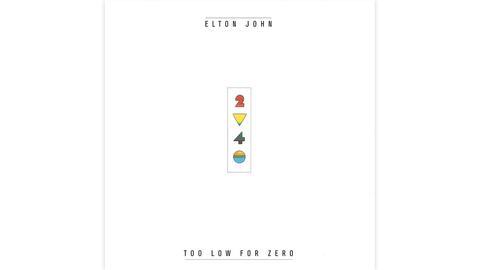 "Das Plattencover von Elton Johns ""Too Low For Zero"""