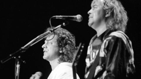 Foreigner bei einem Konzert auf der Waldbühne Berlin 1985