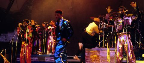 Kool and the Gang 1987 bei einem Konzert in Berlin