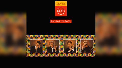 "Das Plattencover von Level 42s ""Running In The Family"""