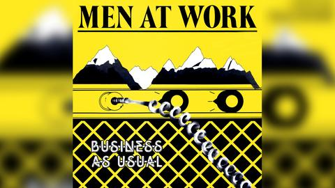 """Das Plattencover von Men At Works """"Business As Usual"""""""