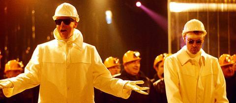 Die Pet Shop Boys 1994 bei einem Konzert