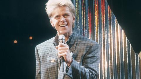 Peter Cetera, Sänger von Chicago, 1986 bei einem Fernsehauftritt