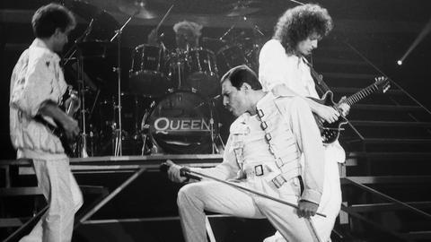 Queen 1986 bei einem Auftritt