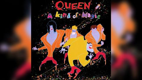 "Das Plattencover von Queens ""A Kind Of Magic"""