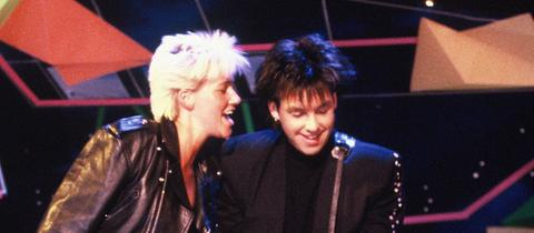 Roxette 1988 bei einem Auftritt
