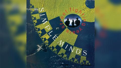 "Das Plattencover vom Simple Minds-Album ""Street Fighting Years"""