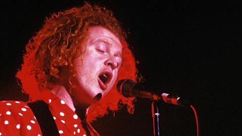 Mick Hucknall von Simply Red 1989 bei einem Konzert