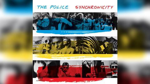 "Das Plattencover vom The Police-Album ""Synchronicity"""