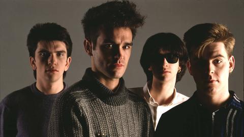 Bandfoto von The Smiths 1984