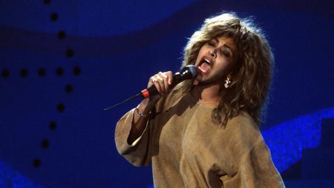 Tina Turner 1989 bei einem Konzert