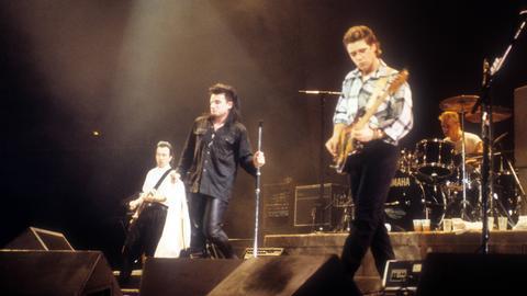 U2 1985 bei einem Konzert