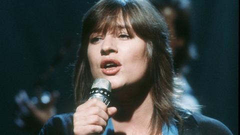 Ulla Meinecke 1985 bei einem Konzert
