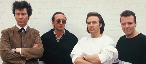 Ein Bandfoto von Ultravox 1984