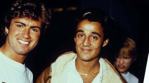 George Michael und Andrew Ridgeley von Wham! 1984