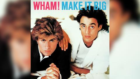 "Das Plattencover vom Wham!-Album ""Make It Big"""