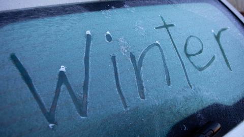Autoscheibe Eis Winter