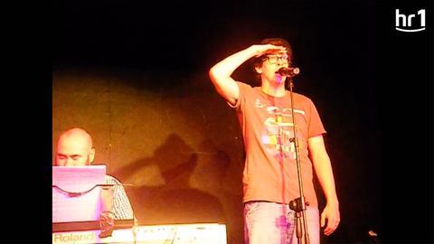 Bastian Korff beim Auftritt in London
