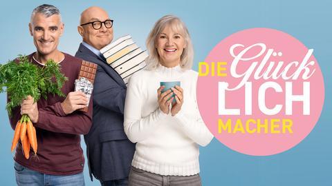 """Die hr1 Aktion """"Glücklichmacher 2021"""" mit Tim Frühling, Thomas Koschwitz und Martina Regel"""